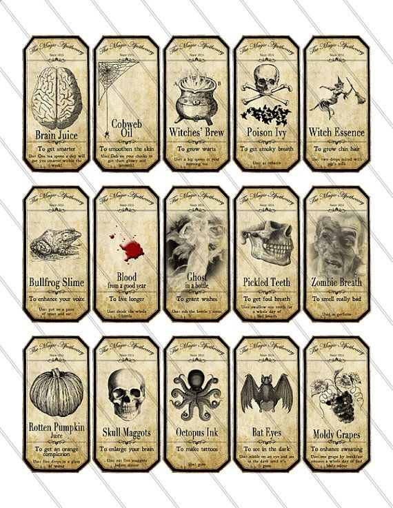 apothecary jar labels.