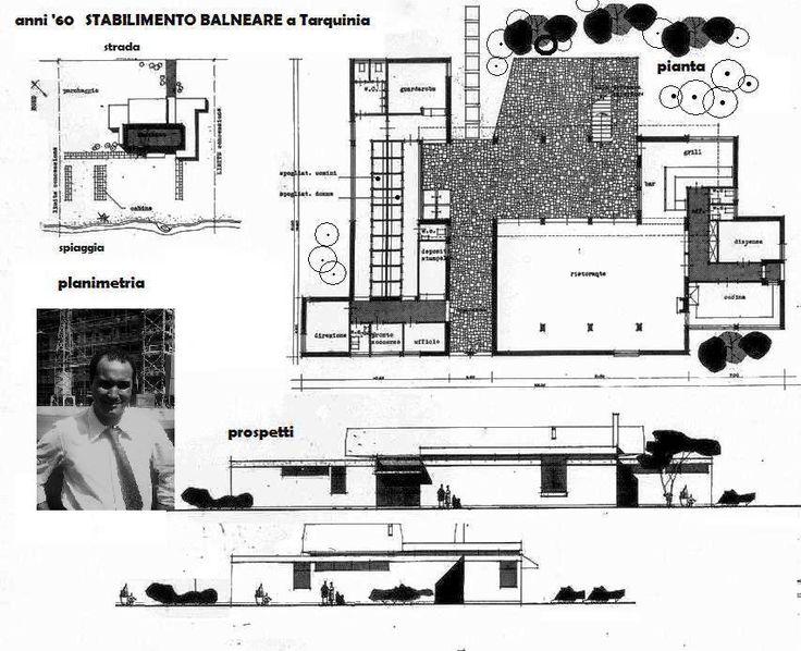 è semplicemente un progetto di altri tempi (anni '60) per un possibile stabilimento balneare a TARQUINIA, ma non venne realizzato. O forse realizzato in altro modo...