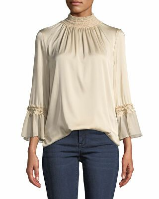 465c63cf1be545 Kobi Halperin Designer Nadia Stretch-Silk Blouse