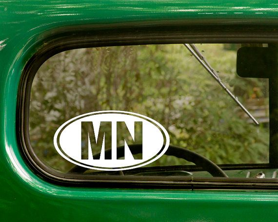 Best Oval State Stickers Decal Images On Pinterest - Custom vinyl decals minnesota