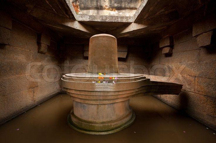 Lingam is an abstract or aniconic representation of the Hindu deity, Shiva, used for worship in temples, smaller shrines, or as self-manifested natural objects badavi-linga-badavlinga-monolithic-shiva-linga-hampi-karnataka