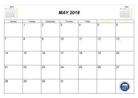 november may 2018 calendar