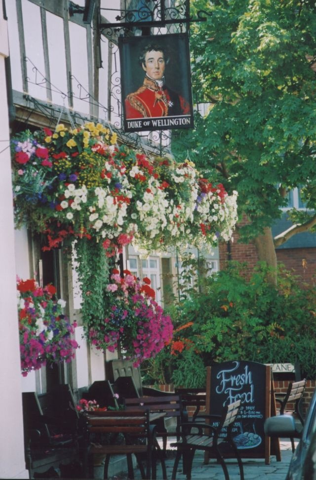 Duke of Wellington, Southampton, UK - in Spring. It always looks like this!