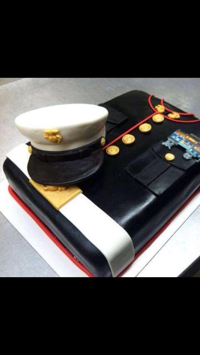 #KatieSheaDesign ♡❤❥ Marine cake #VeteransDay
