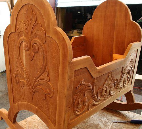 Hand Carved Viking Cradle in Mahogany. | Flickr - Photo Sharing!
