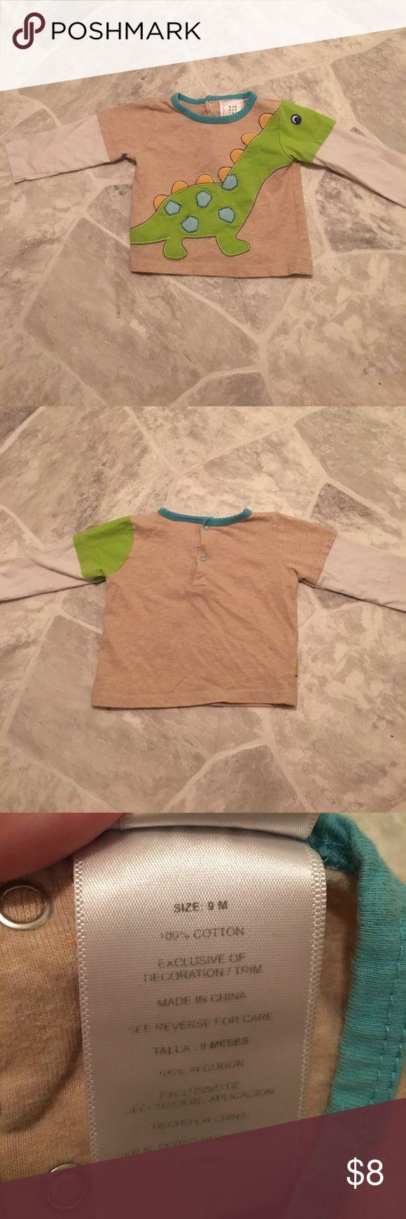 Dinosaur nine month longsleeve baby boy shirt Dinosaur nine month longsleeve baby boy shirt Shirts & Tops Tees - Long Sleeve