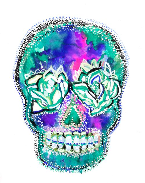 Turquoise Sugar Skull- Bronte Goodieson
