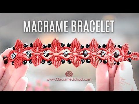 Macramé Leaf Bracelet with Swarovski Berries | Teaser - YouTube