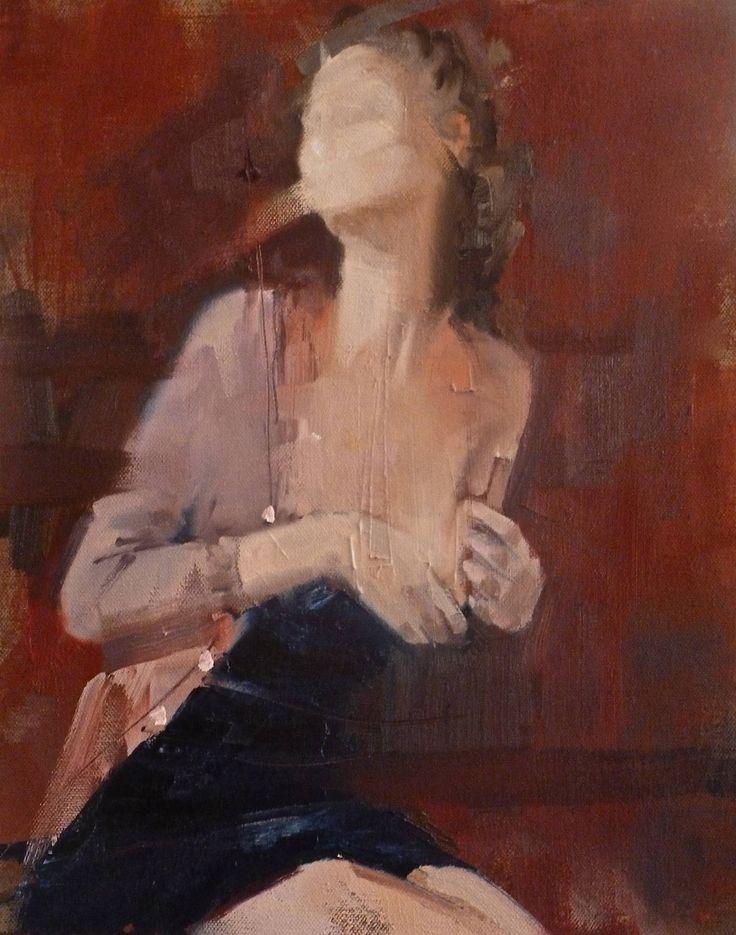 "Saatchi Art Artist: Fanny Nushka Moreaux; Oil 2014 Painting ""Red Room, 2014"""