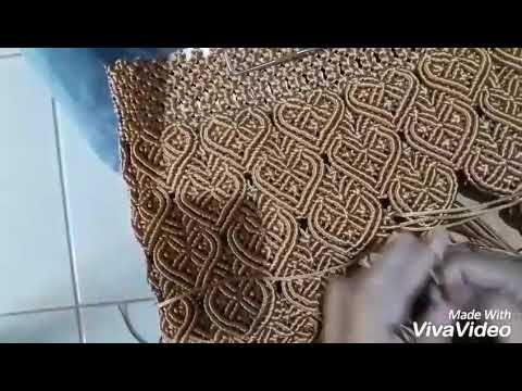 Tutorial tas talikur/tali satin motip love part 2 - YouTube