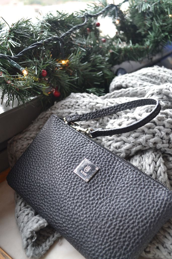 Kem purse, zara scarf and christmas decorations