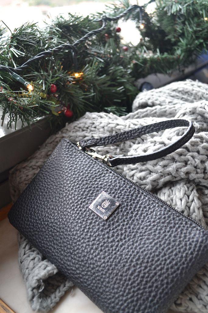Kem purse, zara scarf and christmas decorations