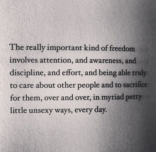 I'm really into this whole idea of freedom lately, and whether it means what people think it means.