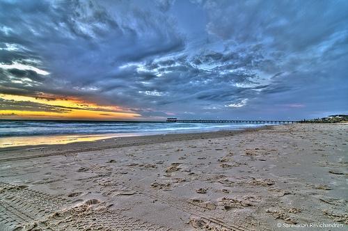Beach, Adelaide, Australia.