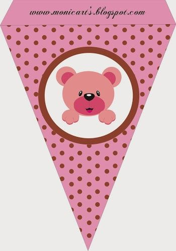 Cute Pink Bear: Free Party Printables.