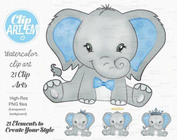 Elephant Boy Clip Art Watercolor Watercolor Baby Peanut Clipart Blue Baby Shower Birthday Crown Bow Tie It S A Boy Comm Use Baby Elephant Clipart Imagen Elefante Elefantes Bebe