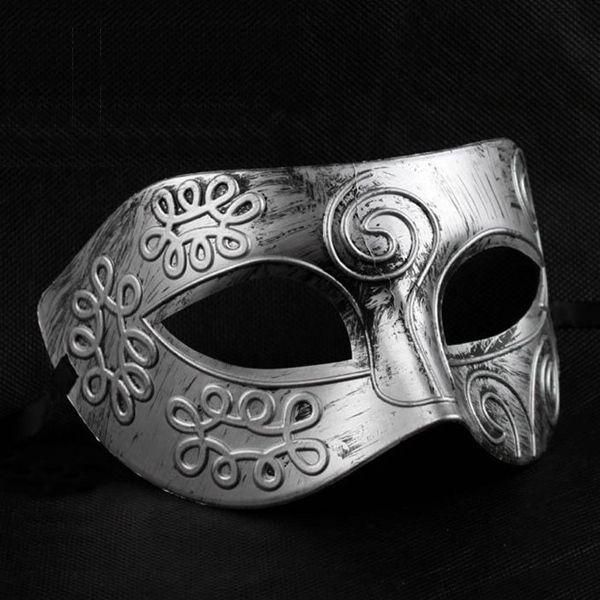 Aliexpress.com: Comprar Máscara veneciana del carnaval de oro de plata del hombre gladiador / Romano máscara del carnaval Máscara del partido de máscara de piel fiable proveedores en Love cabin