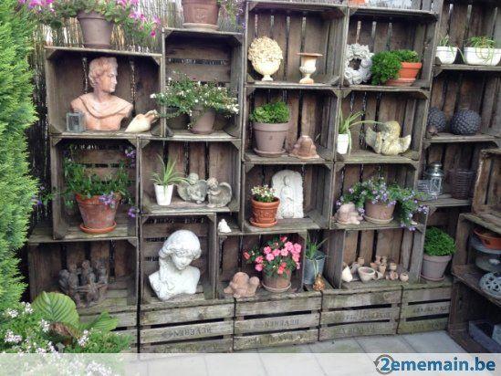 Anciennes Caisses A Fruit En Bois Deco Jardin Accessoire Jardin