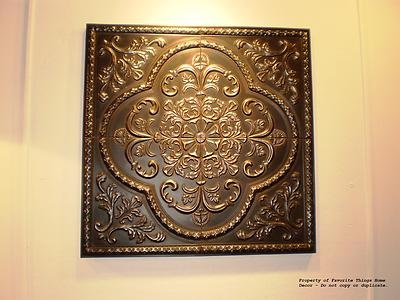 pressed metal plaque