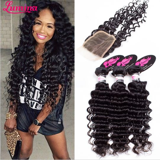 Brazilian Virgin Hair With Closure Deep Wave Human Hair Bundles With Lace Closures 7a Brazilian Curly Virgin Hair With Closure    http://www.aliexpress.com/store/product/Best-Selling-Brazilian-Curly-Virgin-Hair-With-Closure-Wet-And-Wavy-Virgin-Brazilian-Hair-With-Closure/1415229_32310041515.html