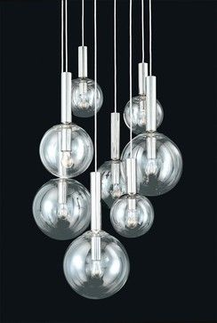 Sonneman Bubbles 8-Light Pendant - modern - pendant lighting - - by Neena's Lighting