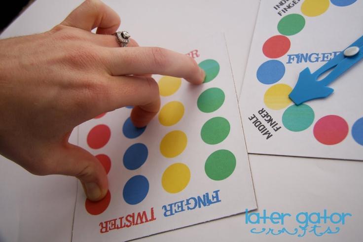 Finger Twister - DIY printables & instructions