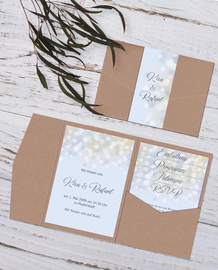 #Pocketfold #Einladungskarten Zur #Hochzeit In
