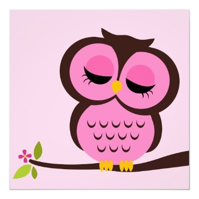 Cartoon Owl Children's Wall Art