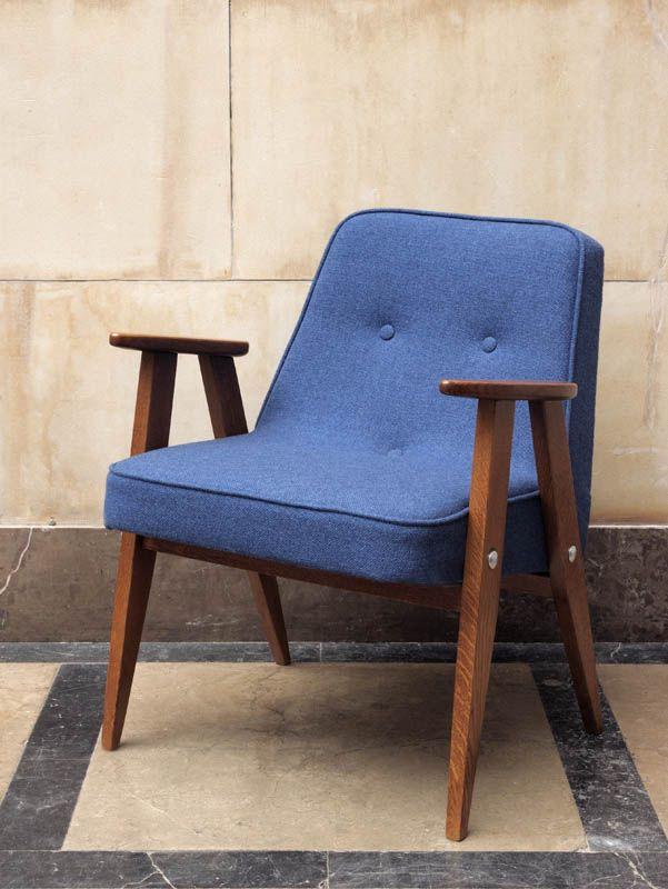 Polish design Armchair '366', Designer: Jozef Chierowski