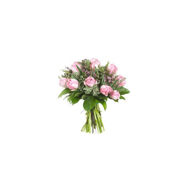 Faxiflora -8 Marzo -bouquet - Bouquet Di Tulipani Rosa ❤ liked on Polyvore