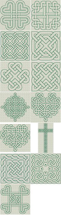Keltische Knoten und Muster