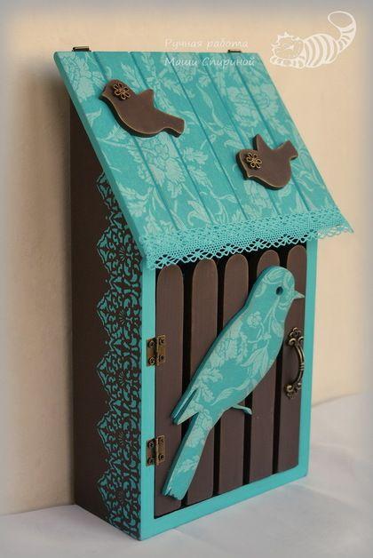 Ключница «Бирюза и шоколад». Handmade.