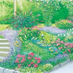 stauden und geh lze zur hangbepflanzung garten pinterest g rten stauden und garten gestalten. Black Bedroom Furniture Sets. Home Design Ideas