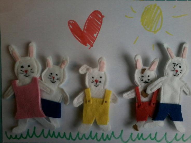 familie konijn