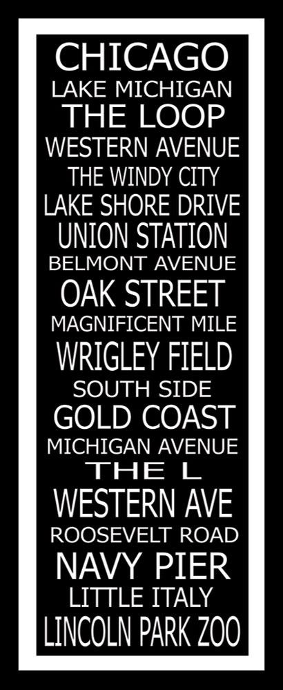 love this, except id switch wrigley with comiskey park, the second western ave with fullerton ave, and gold coast with logan square babyyyy