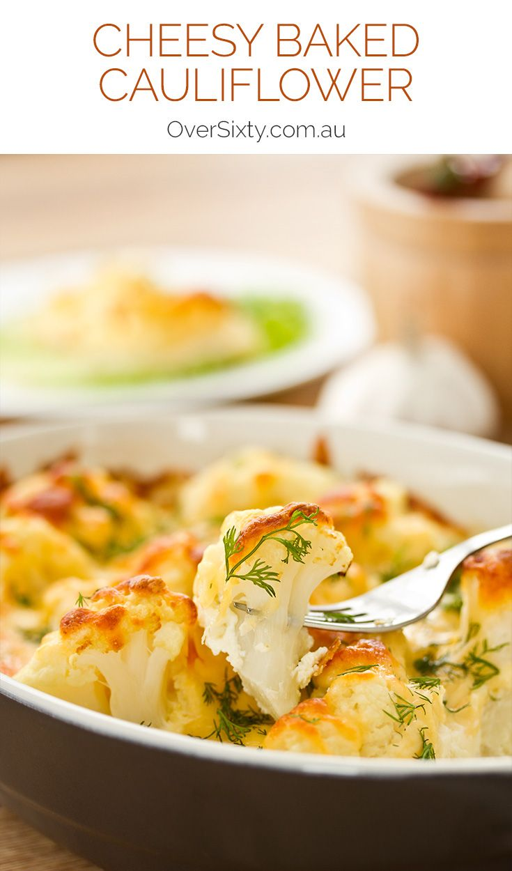 Cheesy Baked Cauliflower - this classic side dish is so delicious and easy. It might even get promoted to a main dish.