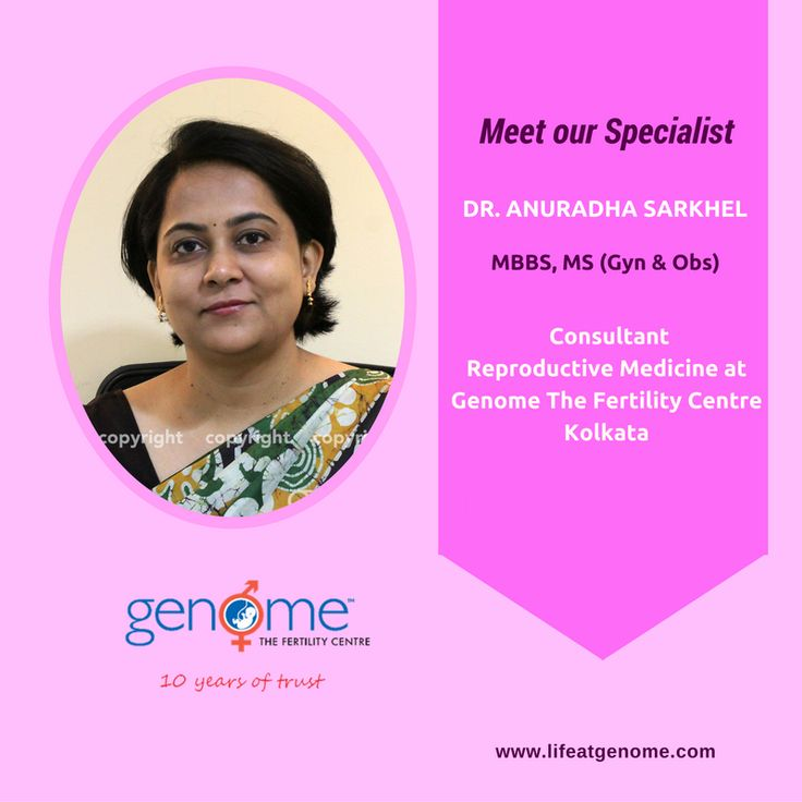 Today let us introduce you to Dr. Anuradha Sarkhel - MS (Obs & Gyn), She is working as a consultant in Reproductive medicine & surgery at Genome Kolkata Centre. She has over a decade of experience in managing all kinds of infertility cases successfully. Dr. Sarkhel has presented many papers and actively participated in several conferences and workshops on ultrasonography, seminology, advanced gynaecological endoscopic surgery & assisted reproductive technologies.