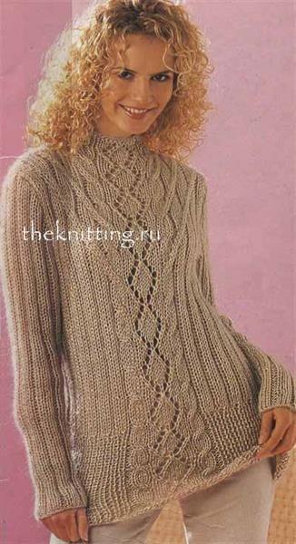 Вязание спицами свитер длинный схемы