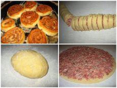 Лучшие кулинарные рецепты: ШАНЕЖКИ С МЯСОМ