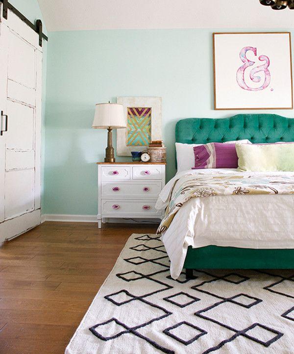 25 beste idee n over muntkleurige slaapkamerwanden op pinterest slaapkamer munt muntgroene - Baby slaapkamer deco ...