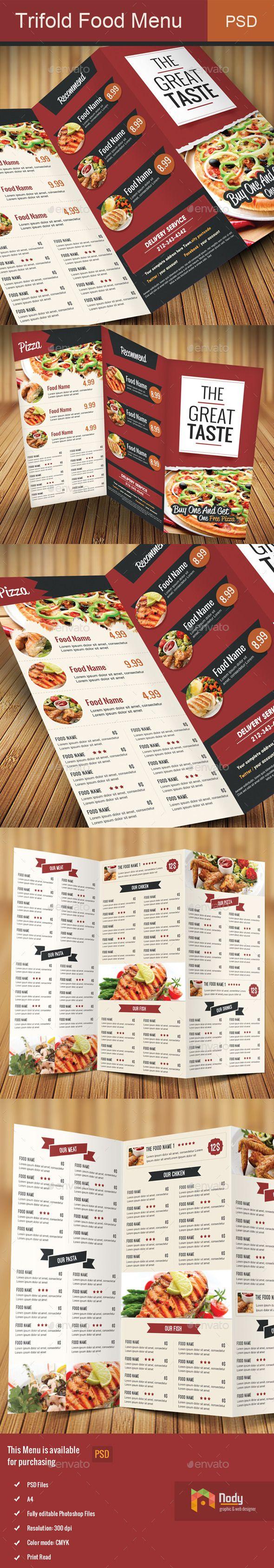 Best Menu Design Images On   Print Templates Flyer
