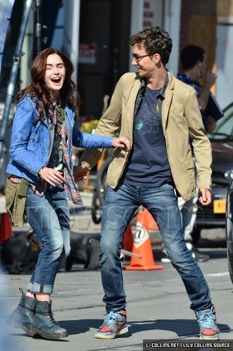 Mortal Instruments filming---Clary and Simon are freaking actor adorable best friends.