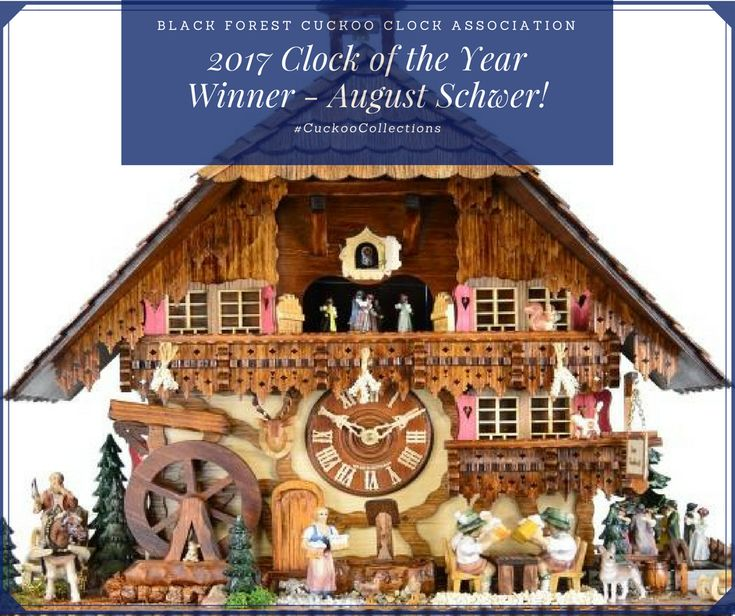 🏆Simply beautiful craftsmanship. Proudly built by August Schwer, this winning 2017 cuckoo clock abounds with movement, colour and life 👌 It depicts the scene of an old traditional chalet tavern from the 1920s with scenery of a busy Saturday evening 🧐 #CuckooCollections #CuckooClock