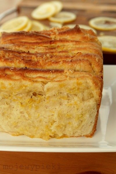Lemon Yeast Cake -- recipe is in polish, but translate works well enough