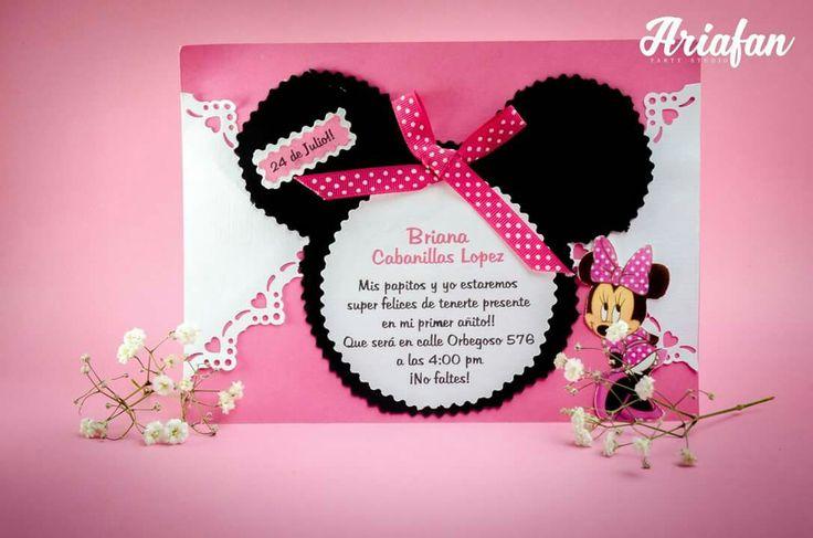 Invitación de minie mouse