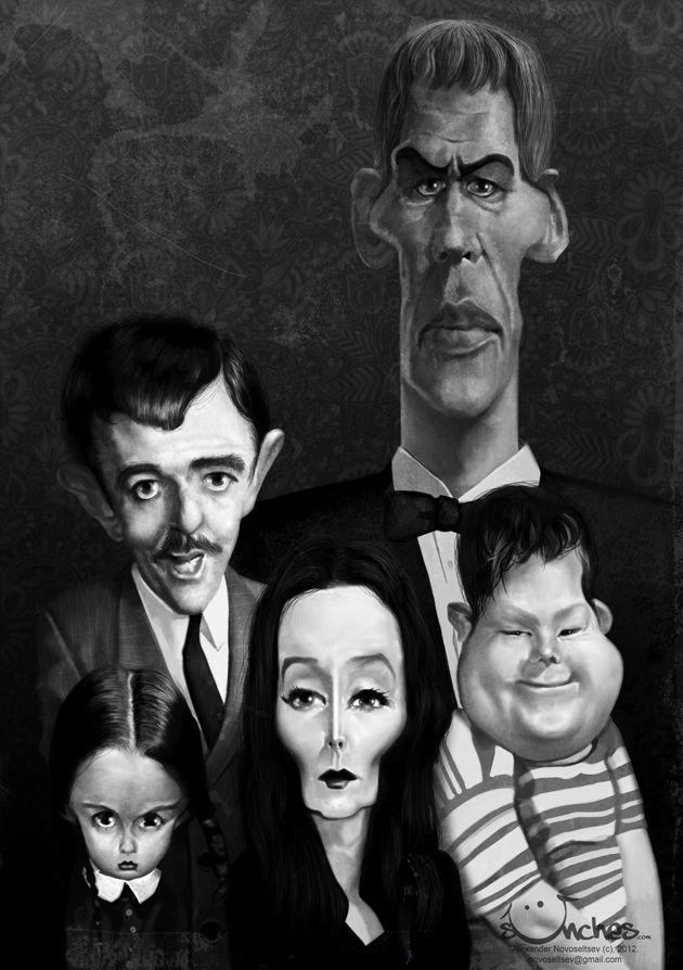 Caricaturas by Daniel Alho / Addams Family