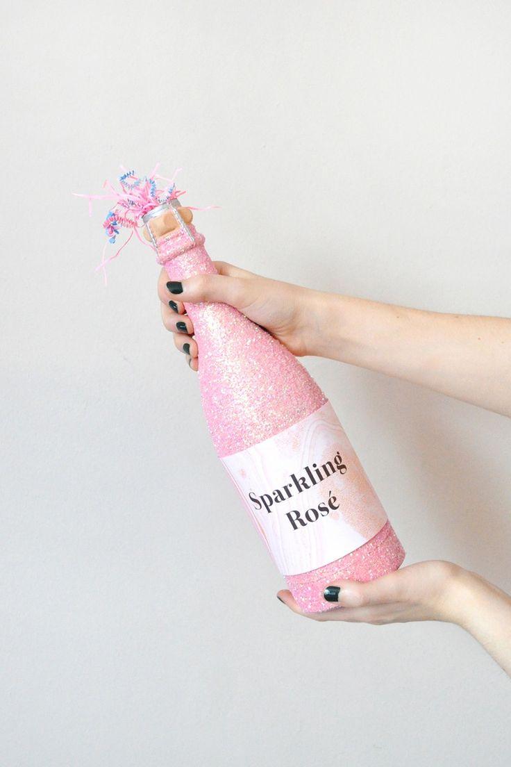 Sparkling Rosé Confetti Poppers.