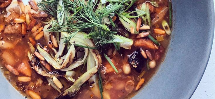 Soupe à la saucisse, haricots blancs et quinoa!