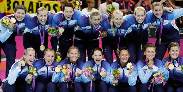 women's Handball – Gold: Norway  Silver: Montenegro  Bronze: Spain