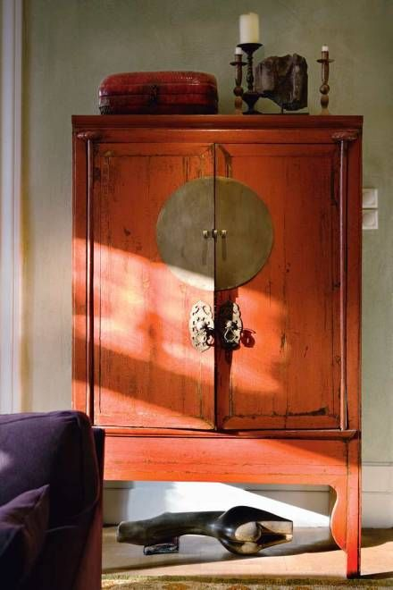 chinese wedding cabinet orange armoire chinoise armario chino naranja home decorations. Black Bedroom Furniture Sets. Home Design Ideas